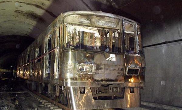 대구지하철 참사 당시의 모습(자료사진)