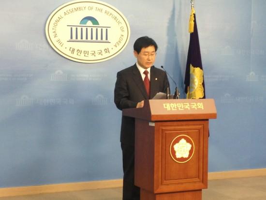 기자회견 중인 박범계 의원(사진=장여진)