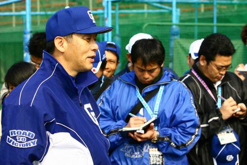 일본의 야구기자들 자료사진