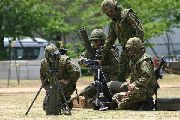 일본 자위대의 훈련 자료사진