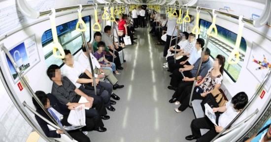 지하철 CCTV에 비친 승객 모습