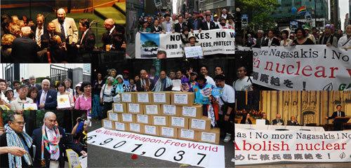 2010년 일본에서 열린 원수폭금지 세계대회의 여러 장면들