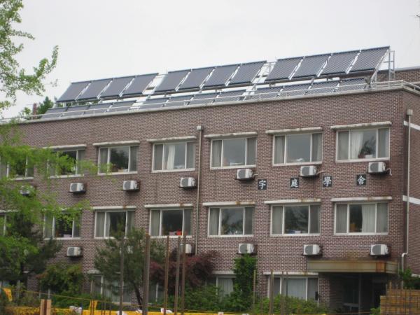 태양광을 운용하고 있는 충남의 한 학교 모습(사진=충남교육청)