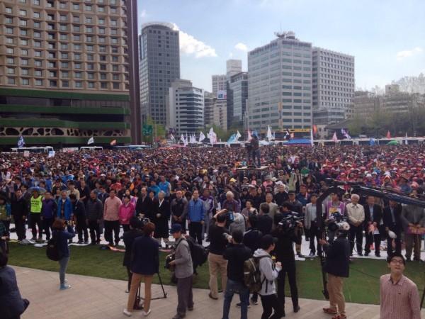 노동절 집회 시작 모습(사진=장여진)