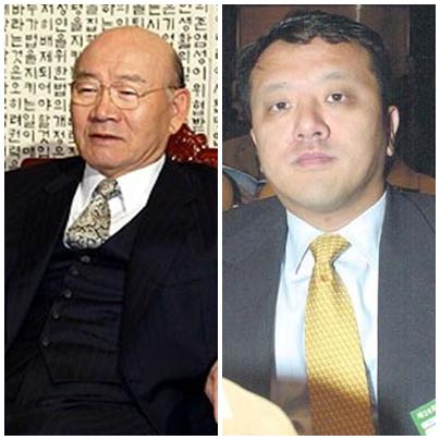 전두환씨와 장남 전재국 시공사 대표(오른쪽)