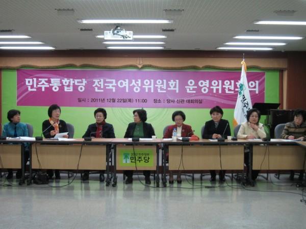 민주당 전국여성위원회 자료사진