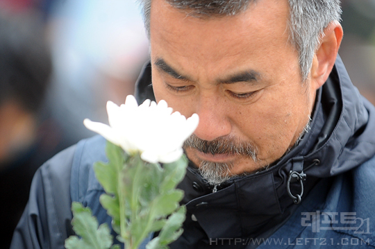 구속전 김정우 지부장의 모습(사진=레프트21)
