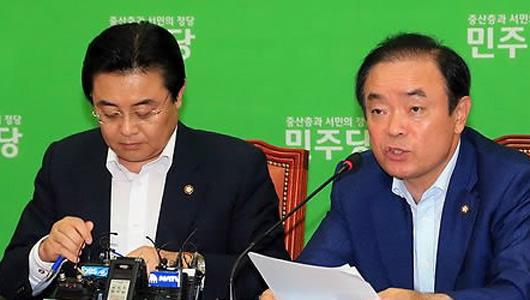 정부의 세제개편안을 세금폭탄이라고 비판하고 있는 장병완 민주당 정책위의장(방송화면 캡처)