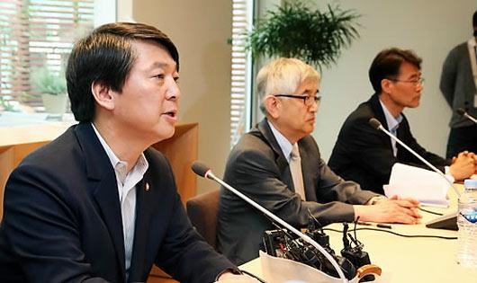 지난 5월 정책네트워크 내일 출범식 기자회견 모습
