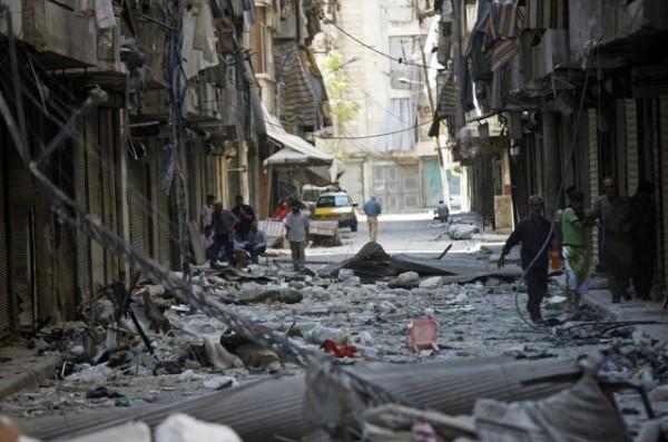 시리아 내전의 황폐한 모습