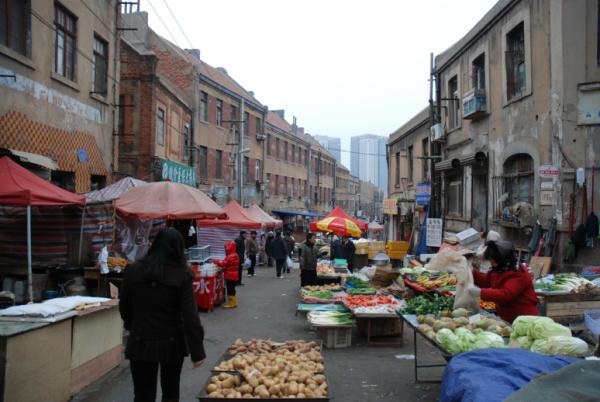 중국 청도시의 시장 풍경(출처는 chiculture.egloos.com/3578059)