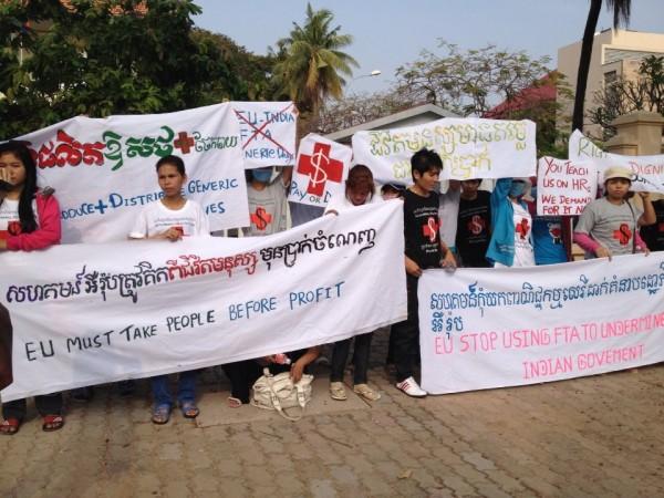 제네릭 의약품 생산을 촉구하는 캠페인(사진=IPLeft)