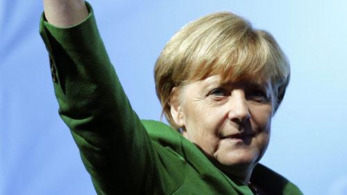 메리켈 독일 총리의 모습