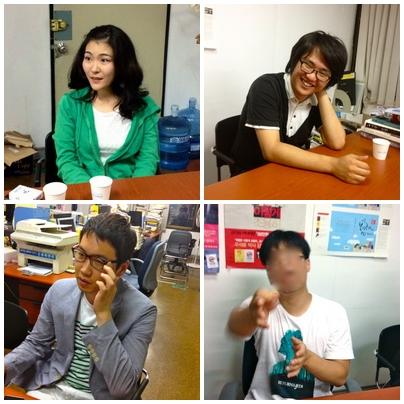 왼쪽 위부터 시계방향으로 윤보라, 최성용, 아이유, 리승환 씨