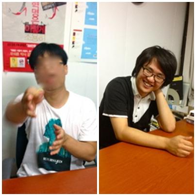 아이윤, 최성용씨(왼쪽부터)
