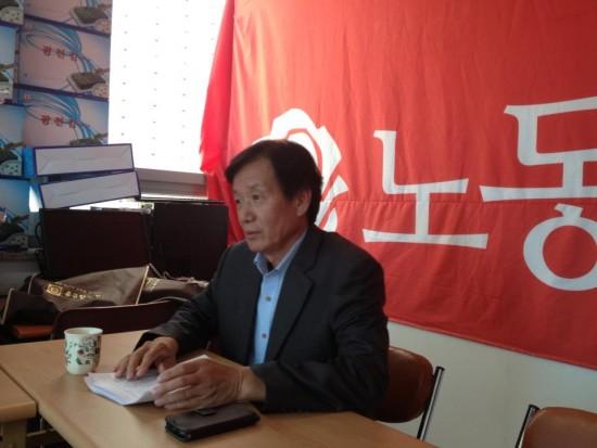 이용길 노동당 대표(사진 장여진)