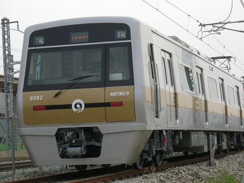 9호선 전철의 모습