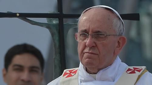 프란치스코 교황의 모습