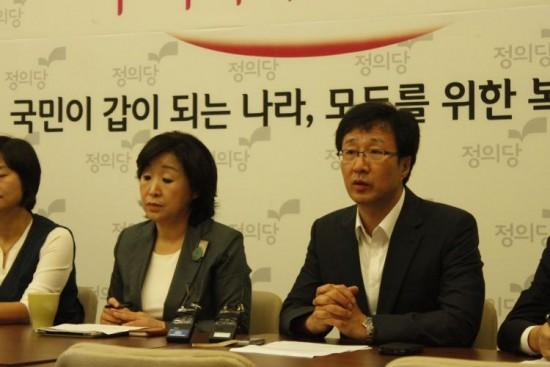 정의당 천호선 대표와 심상정 원내대표(사진=정의당)