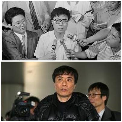 1991년(위)와 2013년의 강기훈씨