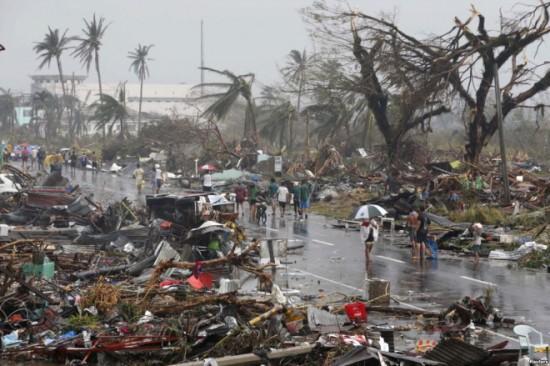 슈퍼태풍 하이옌으로 인한 필리핀 재해 현장