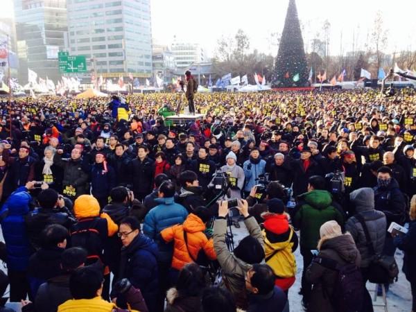 시청앞 10만여명의 총파업 집회(사진=장여진)