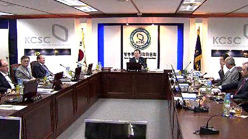 방통심의위 회의 모습(방송화면)