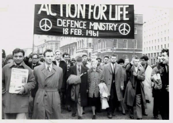1961년 CND 행진 모습