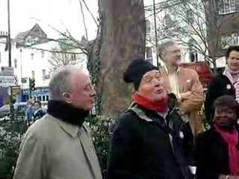 켄 리빙스턴(왼쪽)과 토니 벤