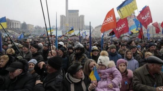 키에프 시위장면