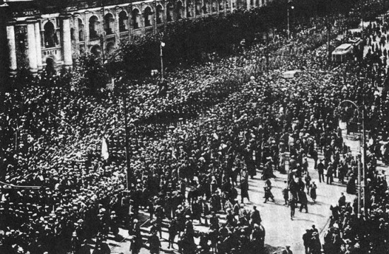 러시아 10월혁명의 장면