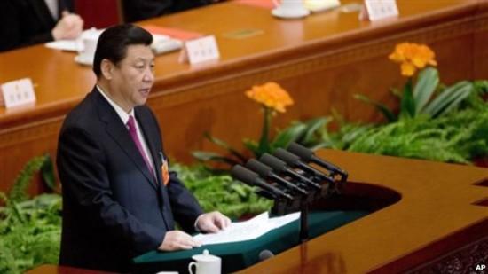 전인대 폐막 연설을 하고 있는 시진핑