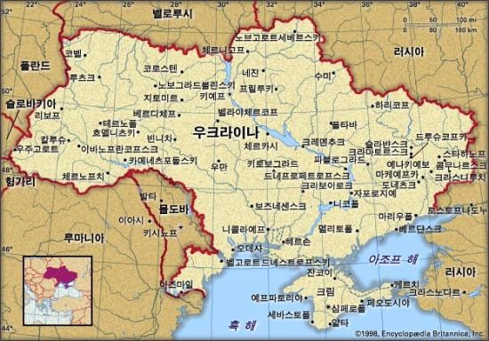 우크라이나 지도