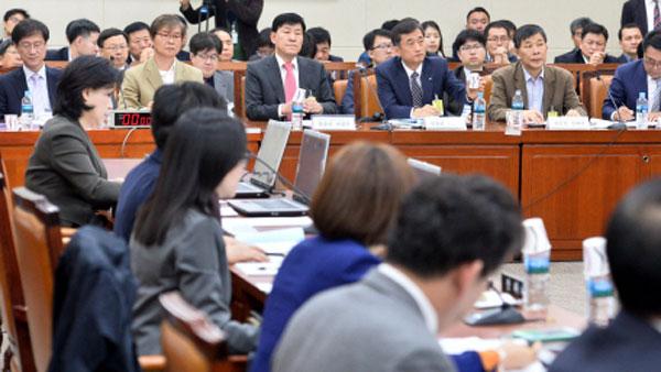 환노위 회의 모습(방송화면)