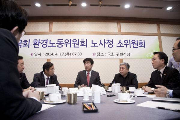 노사정소위 대표자회의 모습(사진=참세상 김용욱)