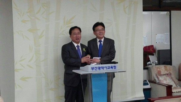 김석준 후보(왼쪽)과 박영관 후보(사진=김석준 후보 페이스북)