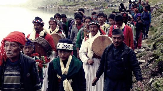 샤먼과 마을사람들