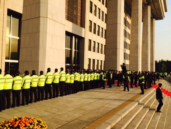 국회 농성장 경찰
