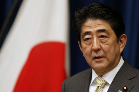 Japan's PM Abe speaks during a news conference at his official residence in Tokyo