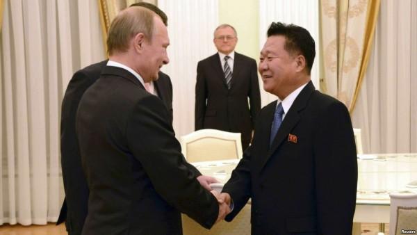 최룡해와 푸틴