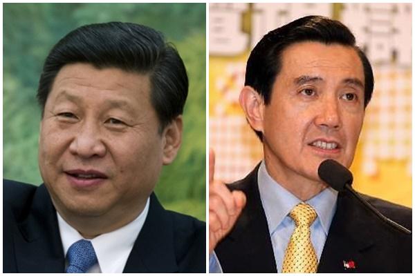 시진핑 중국 국가주석(왼쪽)과 마잉주 대만 총통