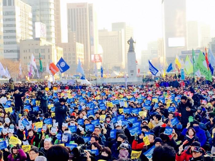 3차 민중총궐기 집회 모습(이하 사진은 유하라)