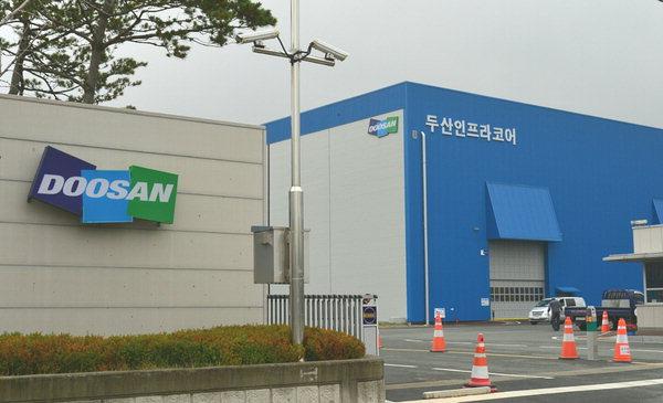 창원시 성산구 두산인프라코어 공장 입구.