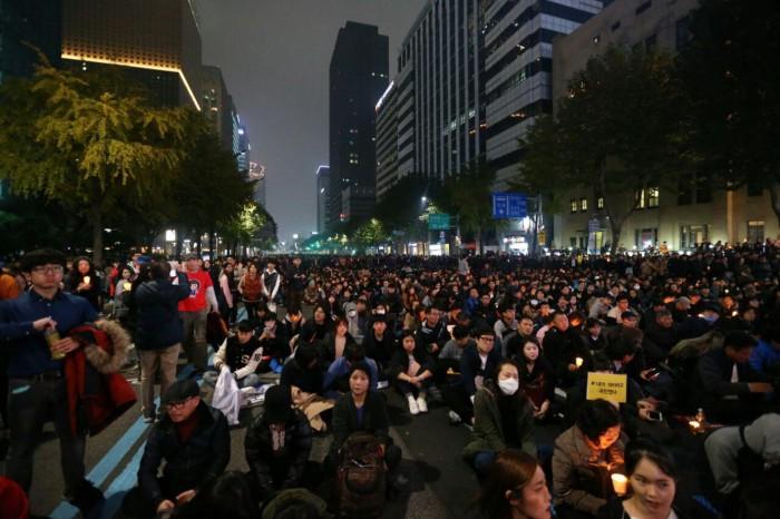 행진 후 2부 문화제의 모습